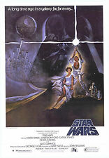 """STAR WARS  A New Hope - 27"""" x 40"""" Movie Poster A 1977"""