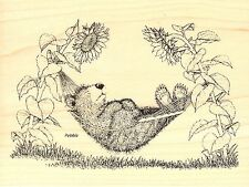 Hammock Nap GRUFFIES Wood Mounted Rubber Stamp STAMPENDOUS, NEW - HGRR02