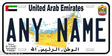United Arab Emirates Any Name Personalized Novelty Car License Plate A2