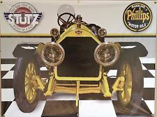 1914 STUTZ BEARCAT ANTIQUE CAR GARAGE SCENE BANNER SIGN GARAGE MURAL ART 4' X 3'