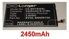Batterie 2450mAh type EV30 SNN5915A SNN5915B Pour Motorola RAZR MAXX HD 4G