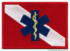RESCUE DIVER iron-on FLAG PATCH SCUBA STAR OF LIFE EMT embroidered PARAMEDIC new