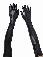 Women's Ladies Opera Evening Party  Faux Leather Black Winter Warm Long Gloves