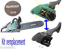 tronconneuse piece QUALCAST PC40 kit carter frein Remplace systéme a molette