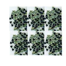 100 Rhinestones LT GREEN new lots Arts Crafts TRIANGLES