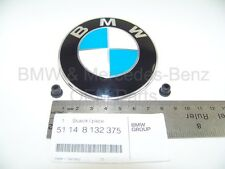 BMW Hood Emblem Badge Logo Roundel 82mm W/Grommets Factory Genuine Original OEM