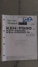 Pioneer keh-p990 p8200 w service manual original repair book stereo radio car