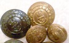 Button- Royal Marines Light Infantry Buttons BRASS 24,22,17 mm 4 pcs, B ltd,GAUN