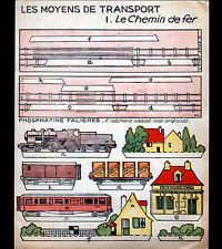 """ASNIERES (92) PHOSPHATINE FALIERES / CHEMIN DE FER Découpages """"TRAIN + GARE"""""""
