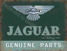 Jaguar Genuine Parts, 139 Vintage Garage Car Advertising, Small Metal/Tin Sign