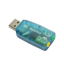 USB 2.0 Mic/Speaker 3D 5.1 Audio Surround Sound Card Adapter