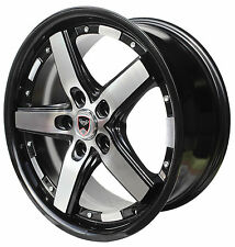 4 GWG Wheels 20 inch Black Machined DRIFT Rims fits 5X120.65 PONTIAC TRANS AM