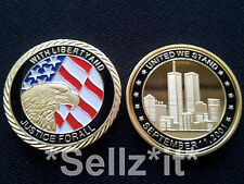 1oz Gold Coin SETTEMBRE 11th 911 Eagle New York City Uomo United We Stand USA
