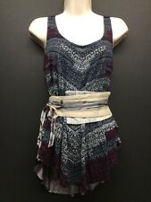 NWT COMMON THREAD RED/BLUE/WHITE WRAP TANK TOP SIZE MEDIUM ANTHROPOLOGIE