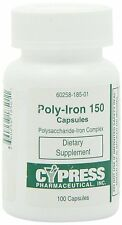 Poly Iron Capsules 150 mg (100 caps per bottle) by Cypress