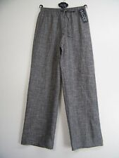 SALOOS ELASTICATED WAIST LINEN LOOK TROUSERS 11 COLS SIZES: 12 14 16 18 20 22