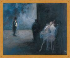 Backstage - Symphony in Blue Jean-Louis Forain Theater Ballerina Tanz B A1 02539