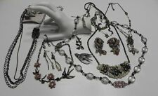 Costume Fashion Jewelry Lot bird charms etc. cute hand made signed earrings