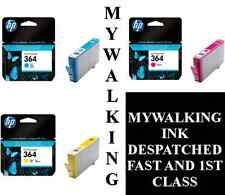 3 X GENUINE HP 364 INK CYAN MAGENTA YELLOW B8550 C5324 C5380 C6324 C6380 D5460