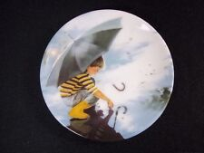 Mini porcelain plate Donald Zolan Childhood Discoveries Touching the Sky 1990