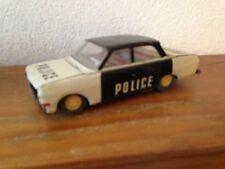 Ancienne voiture police   joustra (?) en tole à friction  vintage vieux jouet