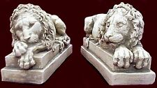 Crouching Lion Bookends Vatican Canova Art Sculpture Statue