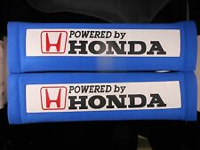 Powered By HONDA 2Pcs Car Seat Belt Shoulder Pads Blue