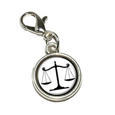 Balanced Scales of Justice Symbol Legal Lawyer Bracelet Charm with Lobster Clasp