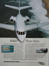 9/1989 PUB ALLIED SIGNAL AEROSPACE GARRETT 731 DASSAULT FALCON 20 RETROFIT AD