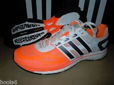 adidas Adizero Adios Boost Running Shoes (Size 10) Orange / White M22914