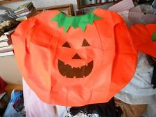 Mens or Ladies Fancy Dress Pumpkin Large Adult Costume & Hat BNIP- Quick Easy