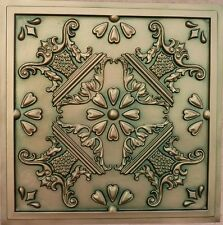 Decorative Ceiling Tile Faux Tin Glue Up or Drop Into Grid #25