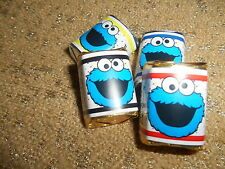 COOKIE MONSTER PERSONALIZED HERSHEY's NUGGET WRAPPERS BIRTHDAY PARTY FAVORS