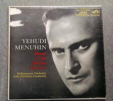 Yehudi Menuhin Violin Concerto Nos 4 & 5 RCA Victor Red Label LM 1961 Mozart