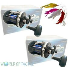 2 x Sea Fishing Multiplier Reel LS3000 Beach Boat Trolling Fishing + 25lb Line