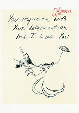 Olympic Games Poster Postcard : Tracey Emin - You Inspire Me & I Love You