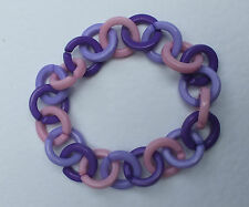CHUNKY PURPLE LILAC PINK PLASTIC CHAIN BRACELET (NECKLACES LISTED) KAWAII POP