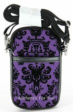 Disney Haunted Mansion Purple Wallpaper Smartphone Cell Phone Case with Strap