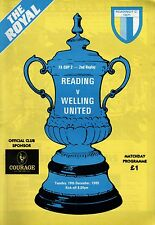 1989/90 Reading v Welling United, FA Cup, PERFECT CONDITION