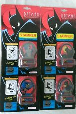 BATMAN THE ANIMATED SERIES LOT OF 4 STAMPERS NOTEWORTHY 1992 RARE