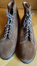 RALPH LAUREN BRAUN BROWN SUEDE LACE BOOTS SCHNÜRSTIEFEL US 12 EUR 45/45 UK 11