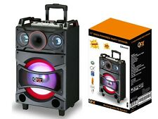 "QFX PBX-91210 12"" Rechargeable PA Speaker +Bluetooth +USB/SD/FM Radio +LED"