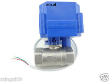 "motorized ball valve 12V, G3/4"" DN20 (reduce port) manual switch,stainless steel"