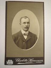 Skara - 1908 - Mann im Anzug / CDV Schweden