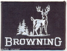 Browning Embroidered Iron on Patch, Hunting Badge, Square Firearm patch