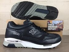 Mens New Balance 1500 NAV Trainers UK Size 7.5 //  Blue Leather Made In England