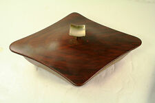 Mid-Century Modern Table-Top Box by CALIFORNIA ORIGINALS Copper & Wood Grain