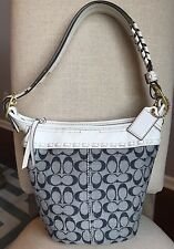 Coach Bleecker Whipstitch Braided Leather Purse Shoulder Bag Cross-body Buckle