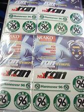 Rarität ! 4 x Aufkleberkarten/Sticker 20Stück Hannover 96 RAN Fussball