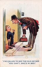 POSTCARD   COMIC   Little  Boy  Old  Geyser